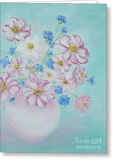 Flowers In A Vase. Inspirations Collection Greeting Card