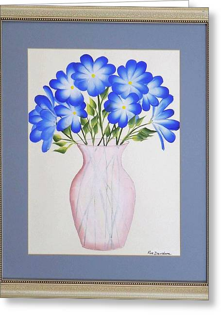Flowers In A Vase Greeting Card by Ron Davidson