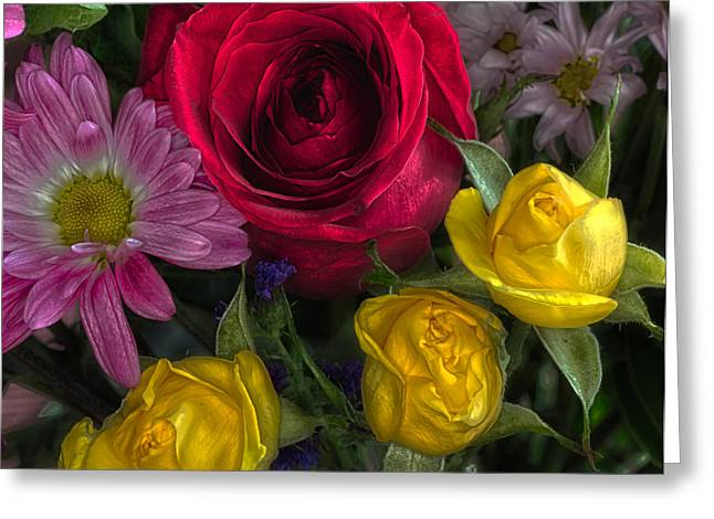 Flowers In Hdr Greeting Card by Tom Climes