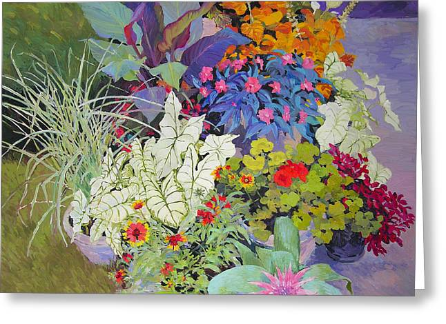 Flowers In The Courtyard Greeting Card