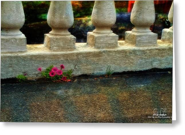 Flowers In The Cracks Greeting Card by Dan Quam