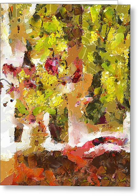 Flowers In Vase On The Window Greeting Card by Yury Malkov