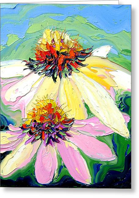 Greeting Card featuring the painting Flowers by Isabelle Gervais