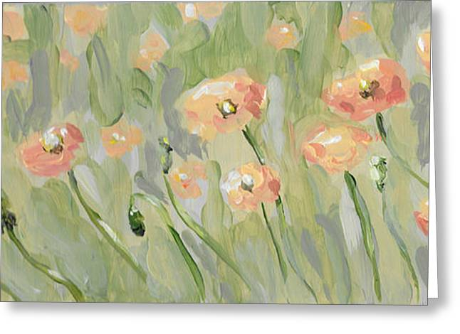 Greeting Card featuring the painting California Poppies by Maria Langgle