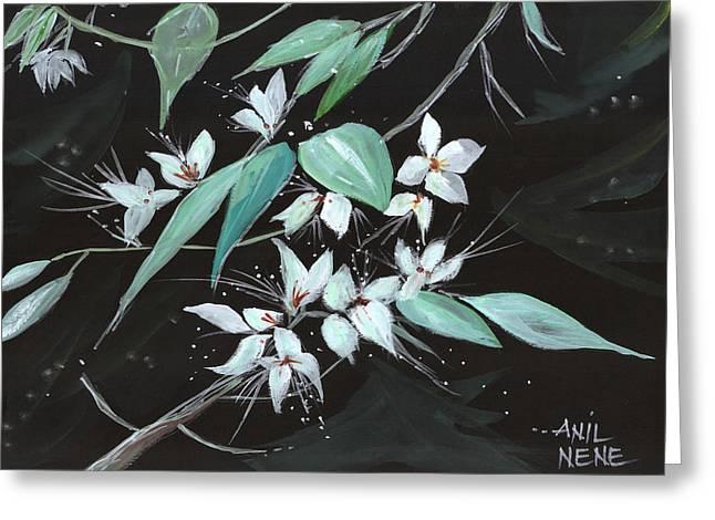 Flowers N Petals Greeting Card by Anil Nene