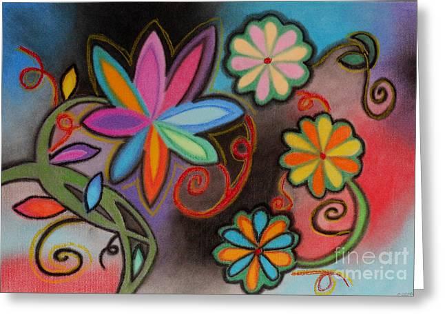 Flowers Of Dreams Greeting Card