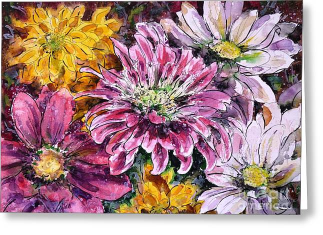 Flowers Of Love Greeting Card