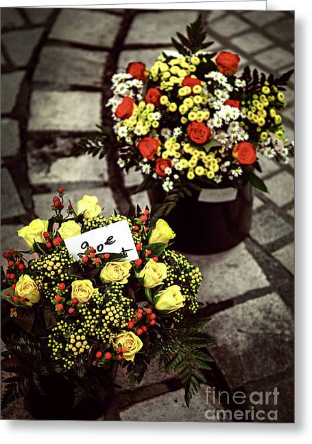 Flowers On The Market In France Greeting Card