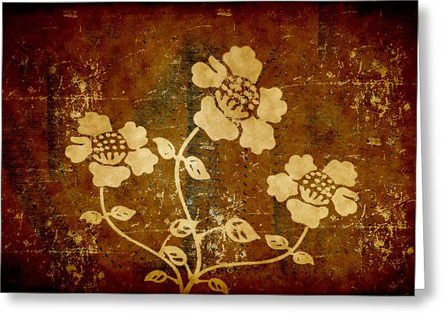 Flowers On The Wall Greeting Card