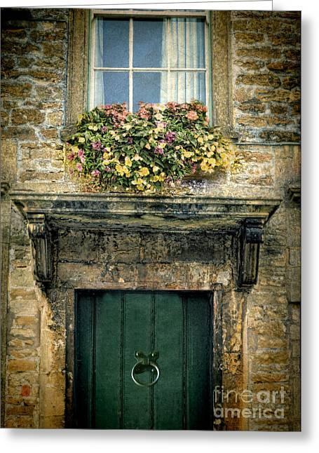 Flowers Over Doorway Greeting Card by Jill Battaglia