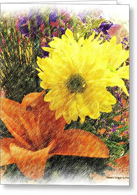 Greeting Card featuring the photograph Flowers With Love by Luther Fine Art