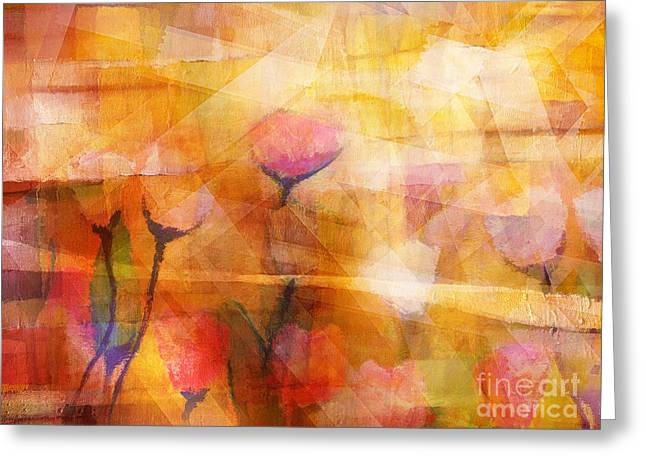 Flowerscape Greeting Card by Lutz Baar