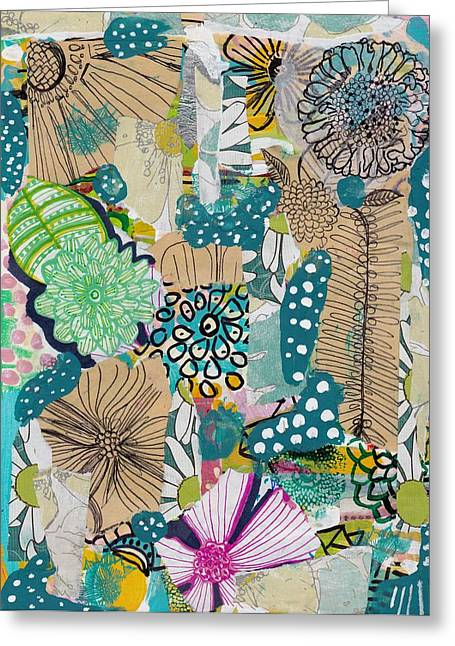 Flowes In An Ocean Forest Greeting Card