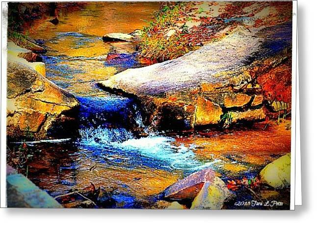 Greeting Card featuring the photograph Flowing Creek by Tara Potts
