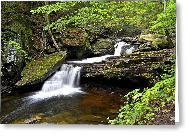 Flowing Falls Greeting Card by Frozen in Time Fine Art Photography