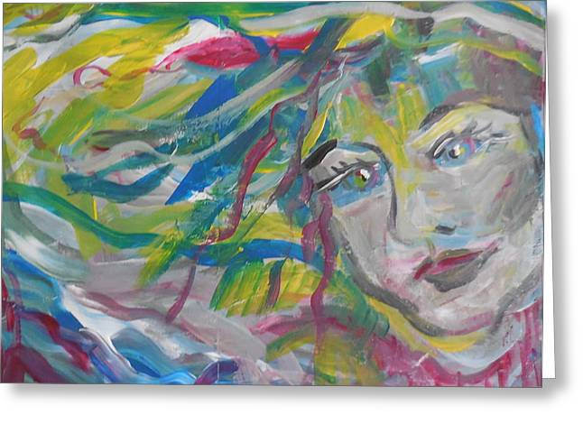 Flowing Girl Greeting Card by Made by Marley