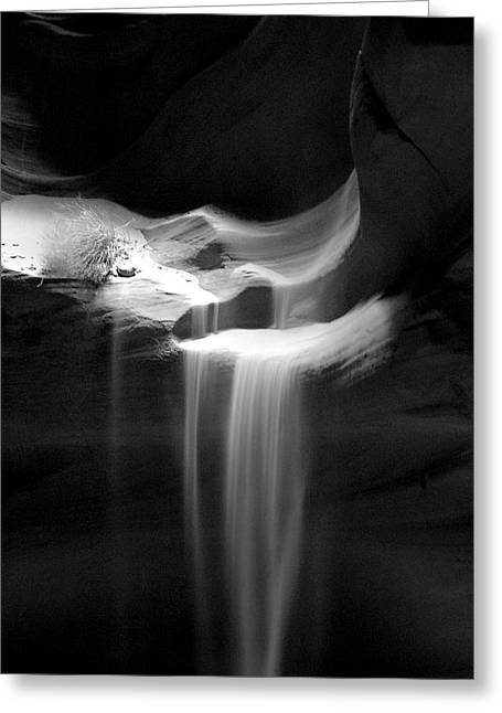 Flowing Sand In Antelope Canyon Greeting Card