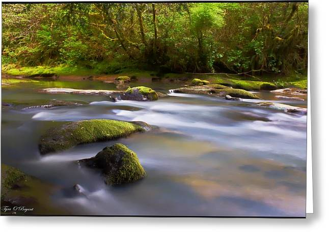 Flowing Serenity Greeting Card
