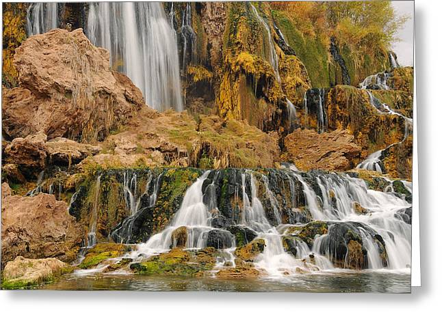 Flowing To The Snake Greeting Card by Jim Southwell