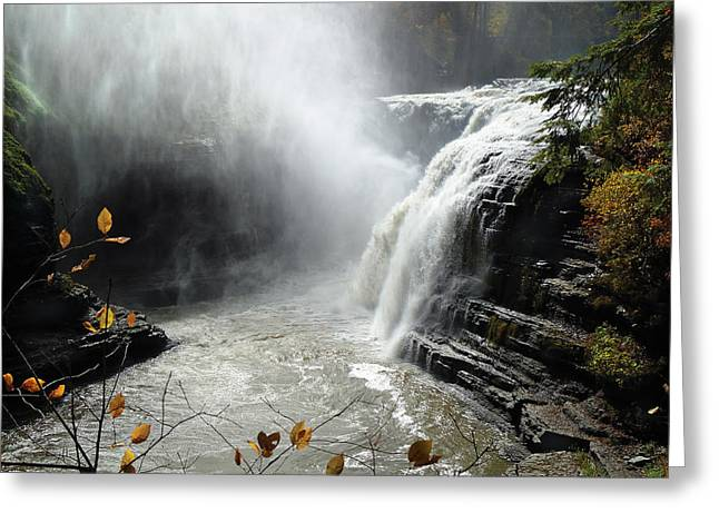 Flowing Tranquility Greeting Card by Mike Feraco