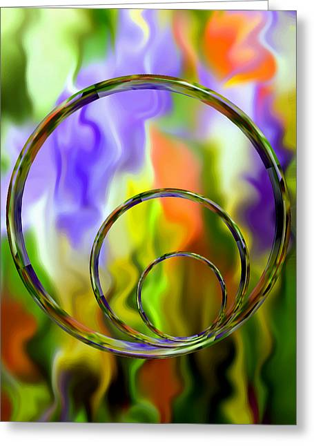 Flowing With Life 14 Greeting Card by Angelina Vick