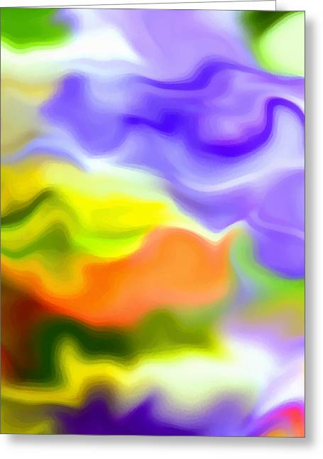 Flowing With Life 5 Greeting Card
