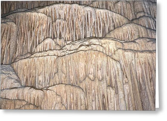 Flowstone Formations Greeting Card by David Parker