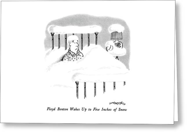 Floyd Benton Wakes Up To Five Inches Of Snow Greeting Card