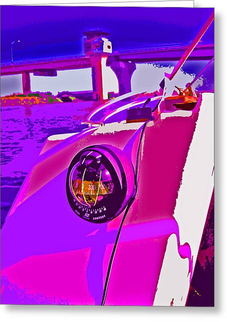 Floyd Pink And Purple Greeting Card