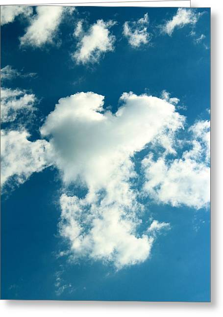 Fluffy Heart Greeting Card