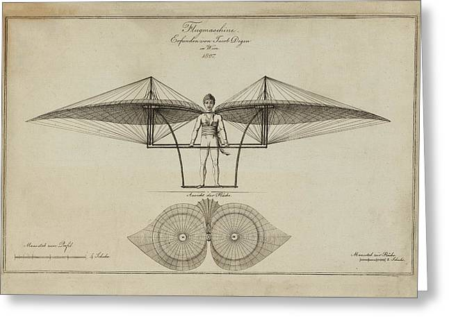 Flugmashine Patent 1807 Greeting Card by Bill Cannon