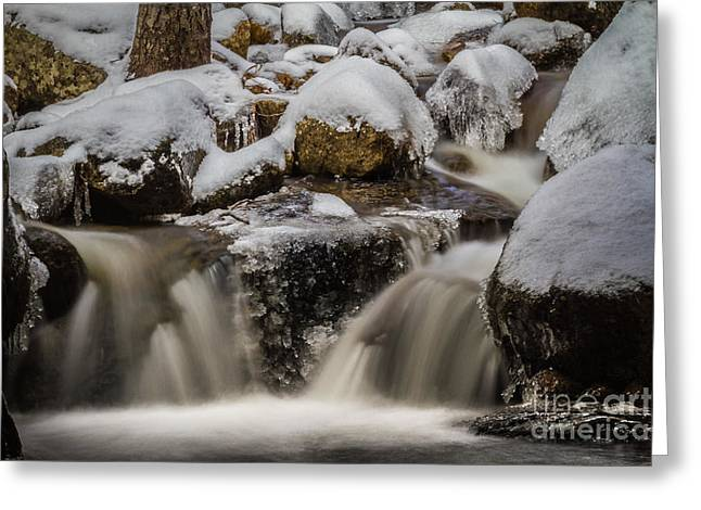 Fluid Ice Greeting Card by Mitch Shindelbower