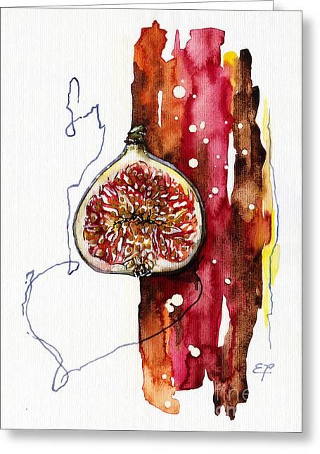 Fluidity 15 -fresh Fig- Elena Yakubovich Greeting Card by Elena Yakubovich