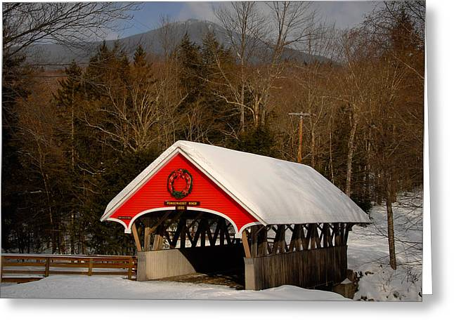 Flume Covered Bridge Greeting Card