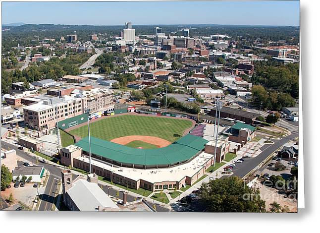 Fluor Field At The West End Greenville Greeting Card by Bill Cobb