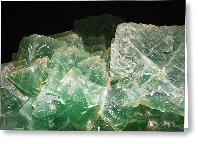 Fluorite Crystals Greeting Card