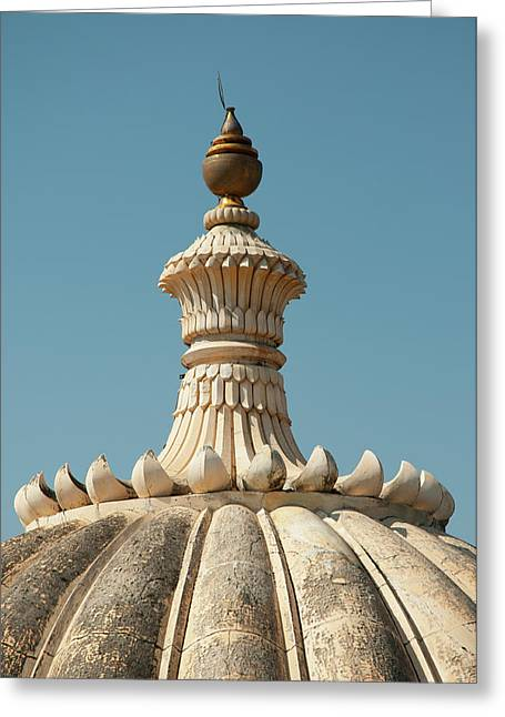 Fluted Dome On Kumbhalgarh Fort Greeting Card