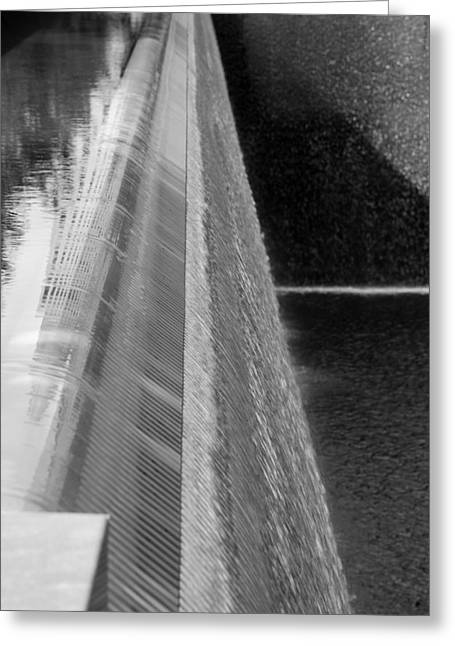 Fluted Water In Black And White Greeting Card by Rob Hans