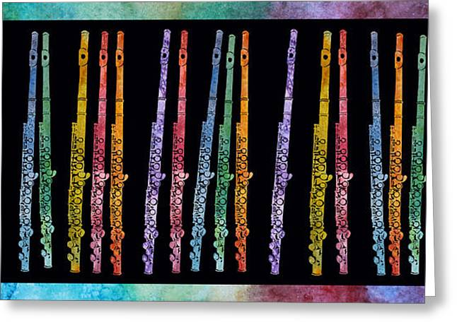 Flutes In Full Color Greeting Card