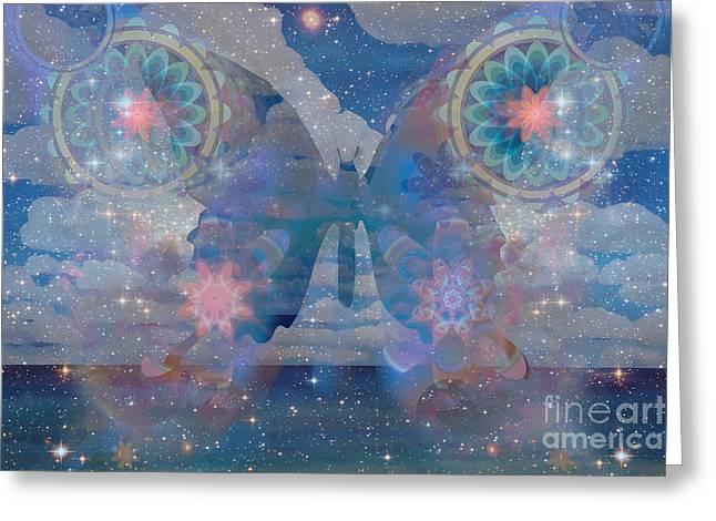 Flutterby Meditation Greeting Card