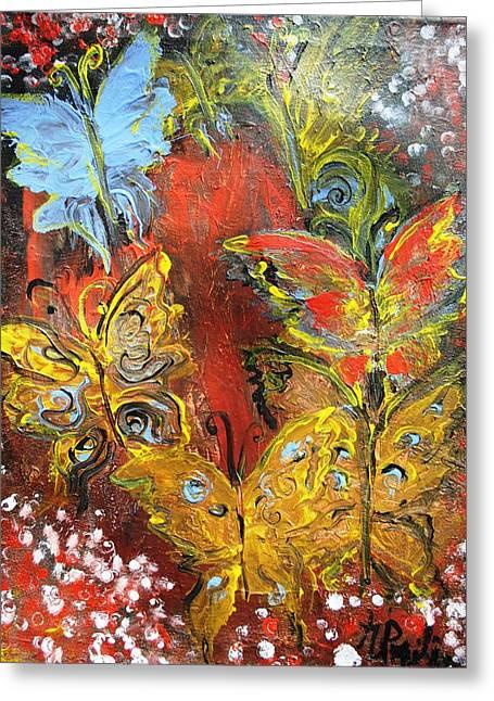 Fluttery Butterflies Greeting Card by Evelina Popilian