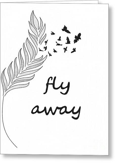 Fly Away Greeting Card by Jennifer Kimberly