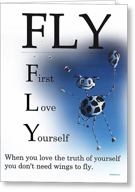 Fly Buseyism - Original Illustration Greeting Card by Buseyisms Inc Gary Busey