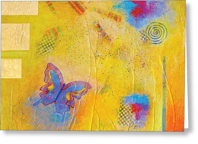 Fly Butterfly Fly Greeting Card by Pat Stacy