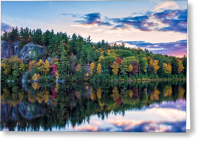 Fly Fishing At Sunset Stonehouse Pond Greeting Card