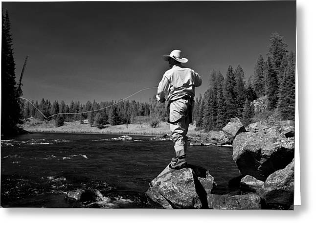 Greeting Card featuring the photograph Fly Fishing The Box by Ron White