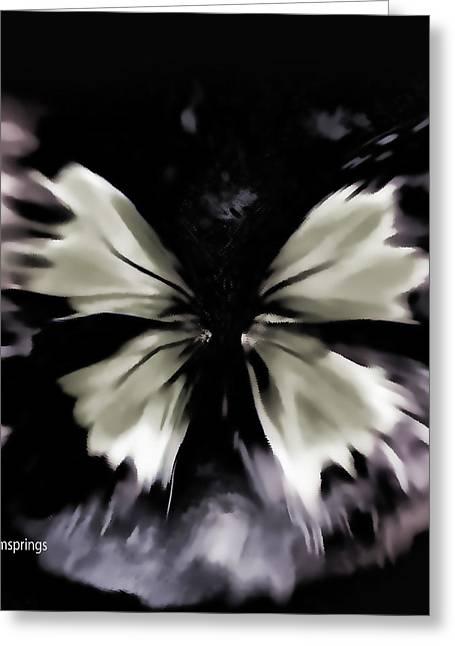 Butterfly Art  Fly Free Little Butterfly Greeting Card