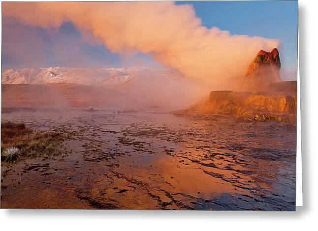 Fly Geyser In The Black Rock Desert Greeting Card