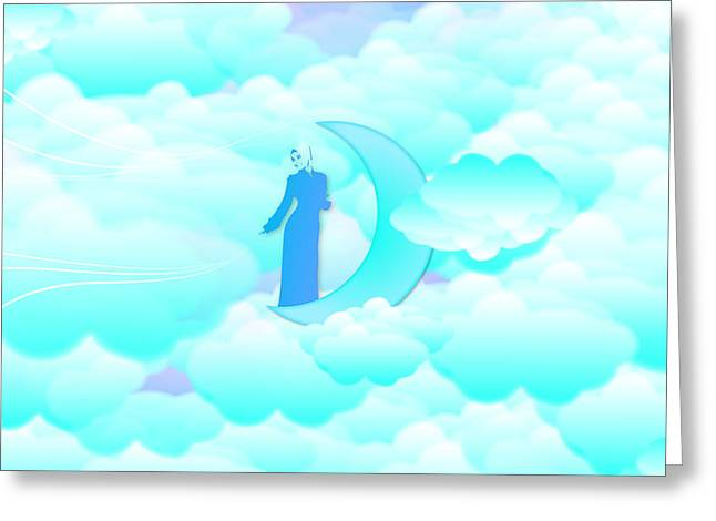 Fly In The Sky Greeting Card by Islamic Cards