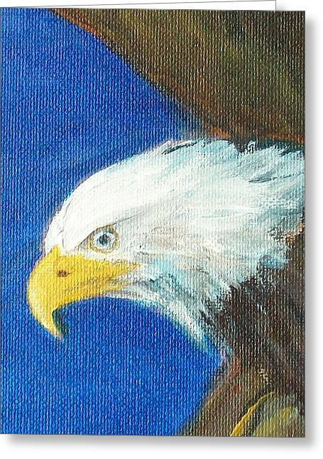 Greeting Card featuring the painting Fly Like The Eagle by Jane  See